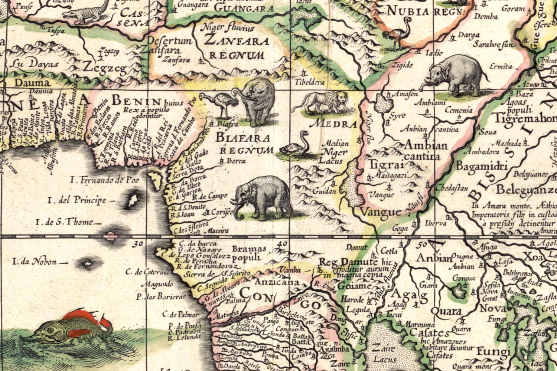 Carte De Lafrique Antique.L Afrique En 1630 Par Willem Blaeu