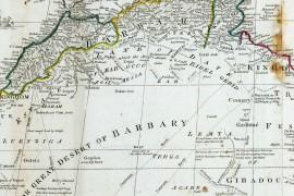 Grande carte d'Afrique en 1800