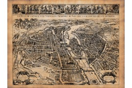 carte ancienne de Paris en 1627