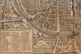 carte ancienne de Paris en 1576