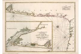 Carte ancienne de la Guyenne et Gascogne en 1693