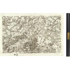 Carte de Cassini 043 - Laon et Noyon - 1750