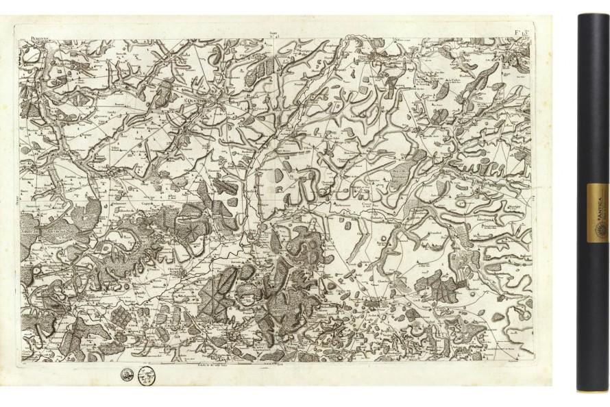 Carte de Cassini 043 - Laon et Noyon - Picardie