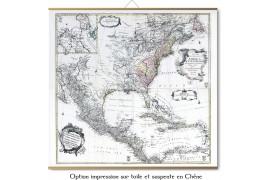 Grande carte des Amériques en 1753