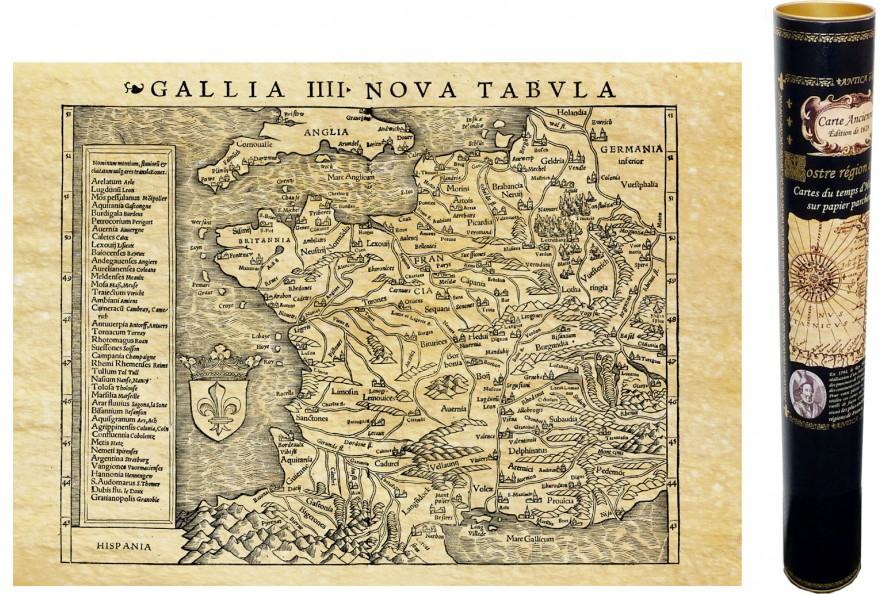 La Gaule carte de 1540