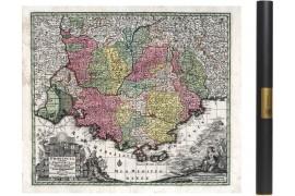 Carte ancinenne de la Provence en 1750