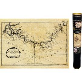 Portulan carte ancienne de la Provence en 1764