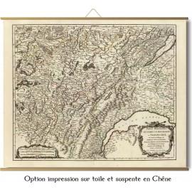 Bourgogne et franche comté en 1749