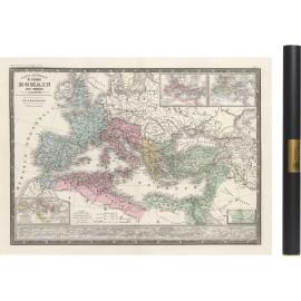 Carte ancienne de l'empire romain sous théodose