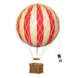 Ballon montgolfière rouge