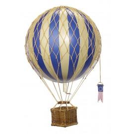 Ballon montgolfière bleu