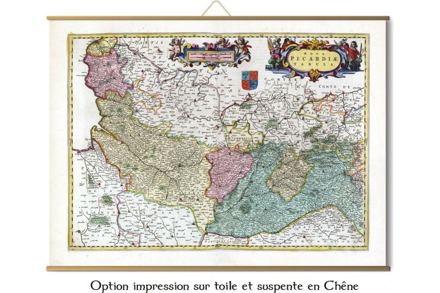 Carte de la Picardie de 1665