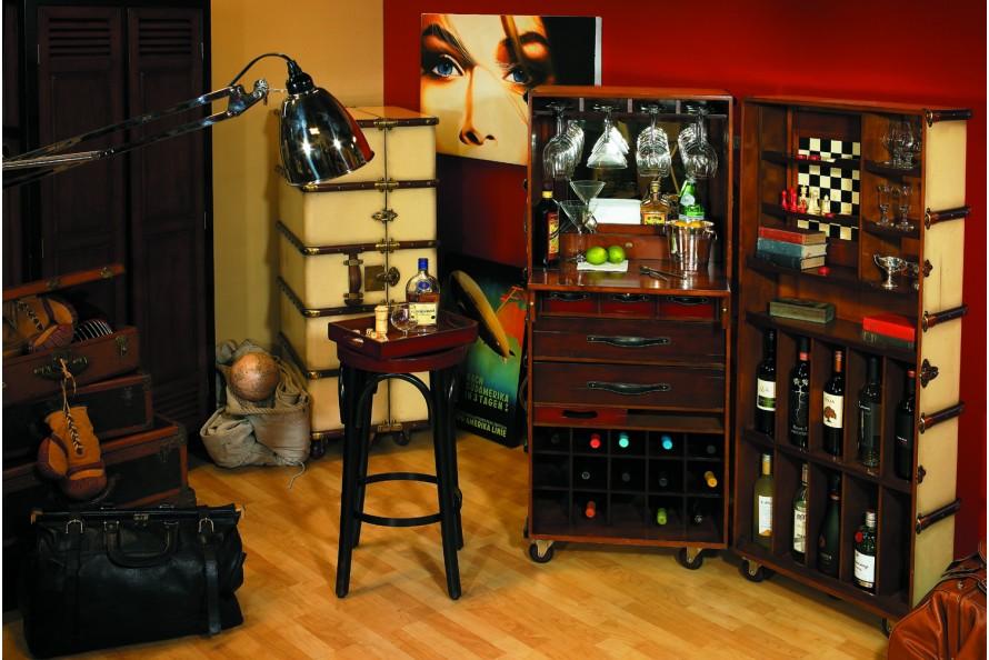 """Bar """"Malle de cabine"""" noire"""