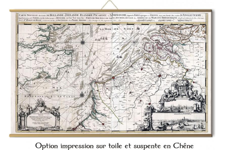 Carte de la Picardie de 1683