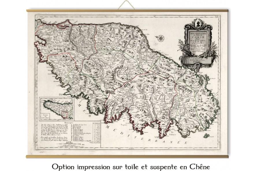 Carte de la Corse de 1784