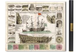Plan et Vues d'un Vaisseau Royal