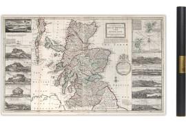 Carte ancienne de L'Ecosse en 1722