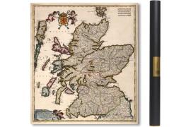 Carte ancienne de L'Ecosse en 1682