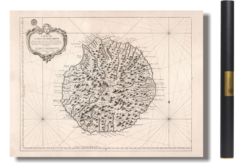 Carte Ancienne De La Reunion Ou Ile De Bourbon 1763