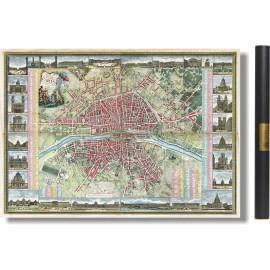 Grand plan de Paris au temps de Louis XVI - 1763