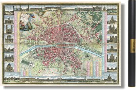 Grand plan de Paris au temps de Louis XVI - 1763