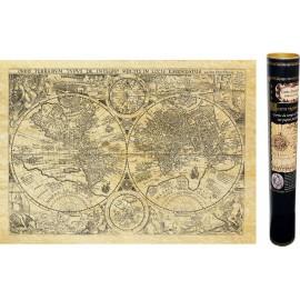 Carte du Monde de 1594 (version avec peuples et animaux)