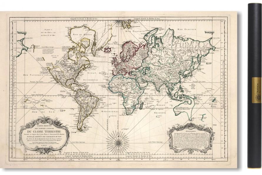 Carte du Monde 1750