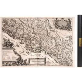 Carte de la Dalmatie, Croatie