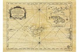 Îles d'Aurigny et Chausey en 1750