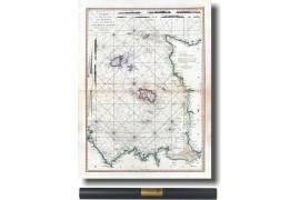 Carte ancienne des Îles de Jersey Guernesey, Chausey en 1781