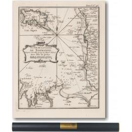 Côte de la Normandie et Bretagne, Chausey, Jersey 1750