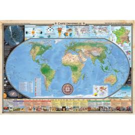 """Carte universelle et frise historique """"Que rien ne te soit inconnu"""""""