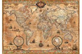 Carte moderne façon carte ancienne sur parchemin