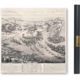 Grande carte du siège de la citadelle de Saint Martin de l'île de Ré