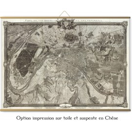 Grande carte de Paris et ses faubourg-1733 - réédition 1795