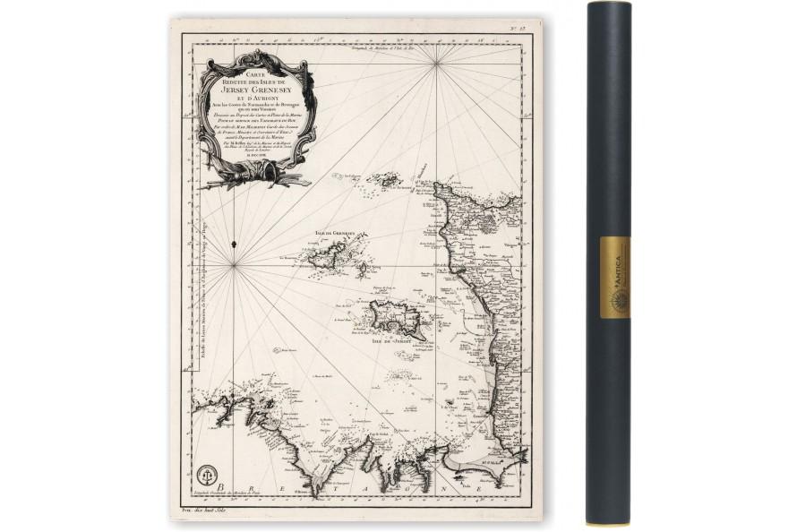 Cote de la Normandie et Bretagne, Chausey, Jersey 1750