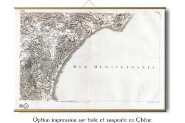 Carte de Cassini 058 - Narbonne - 1750