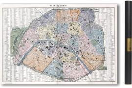 Carte de Paris en 1900