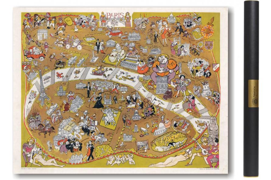 Carte de Paris en 1930