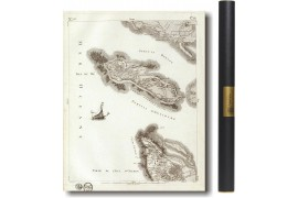 Carte de Cassini de l'île de Ré en 1750