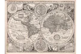 carte ancienne du Monde en 1651