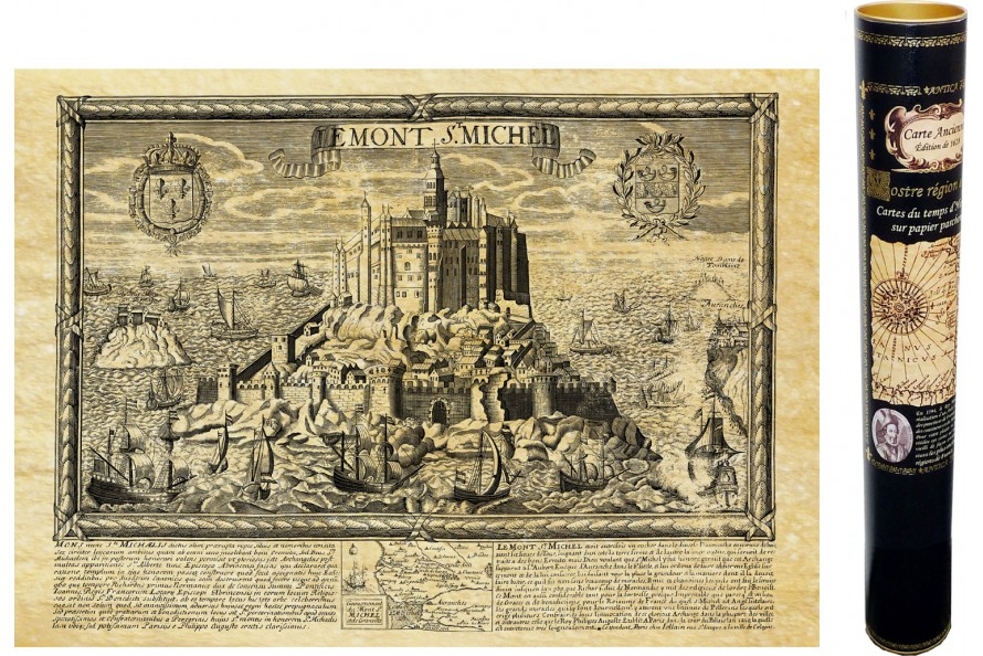 Le Mont Saint Michel en 1654