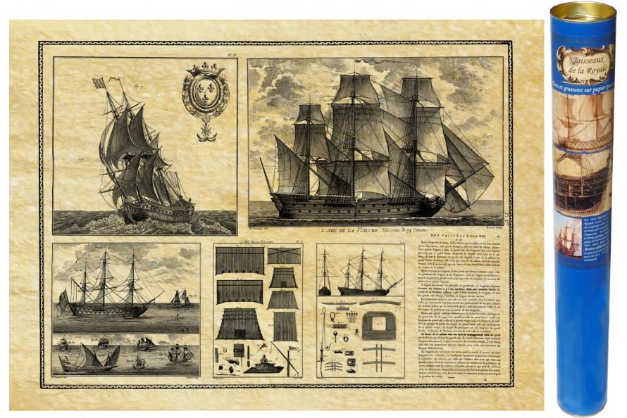 Vaisseau vues - 1685