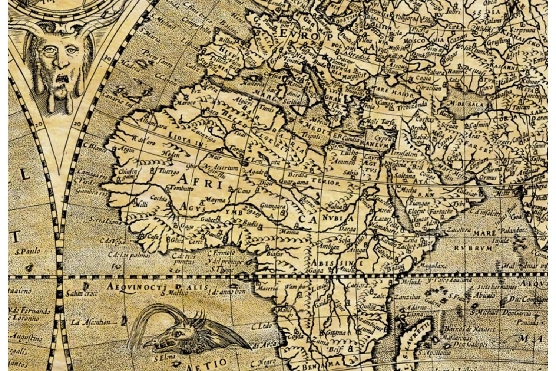 Carte ancienne du monde ou mappemonde