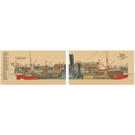 """Coupe du vaisseau de ligne """"Indrapoera"""""""