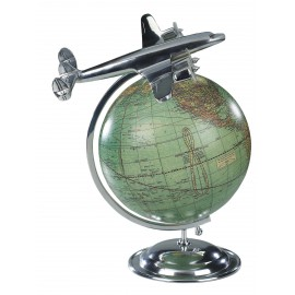 "Globe terrestre Vintage 1950 ""Au sommet du Monde"""