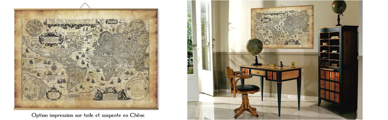 Cartes anciennes monde et mappemondes